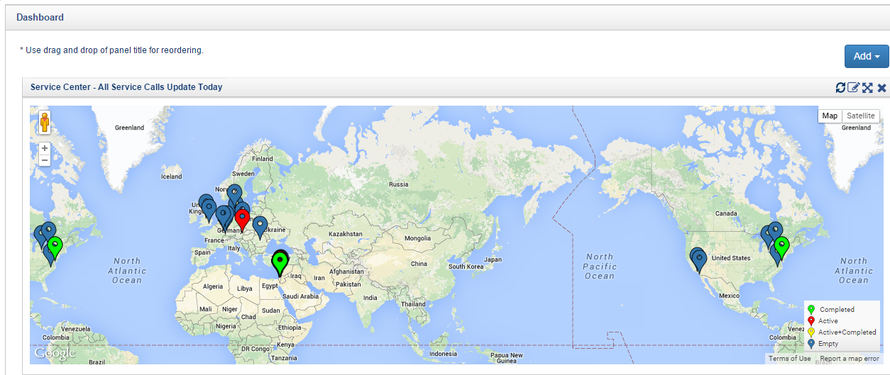 Fig 6: Follow Up Global Activity on Service Call using QPack Service Center